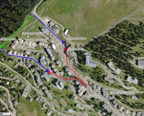 Accès pistes par le téléski ou par la route